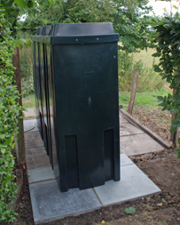 The 1400litre oil tank